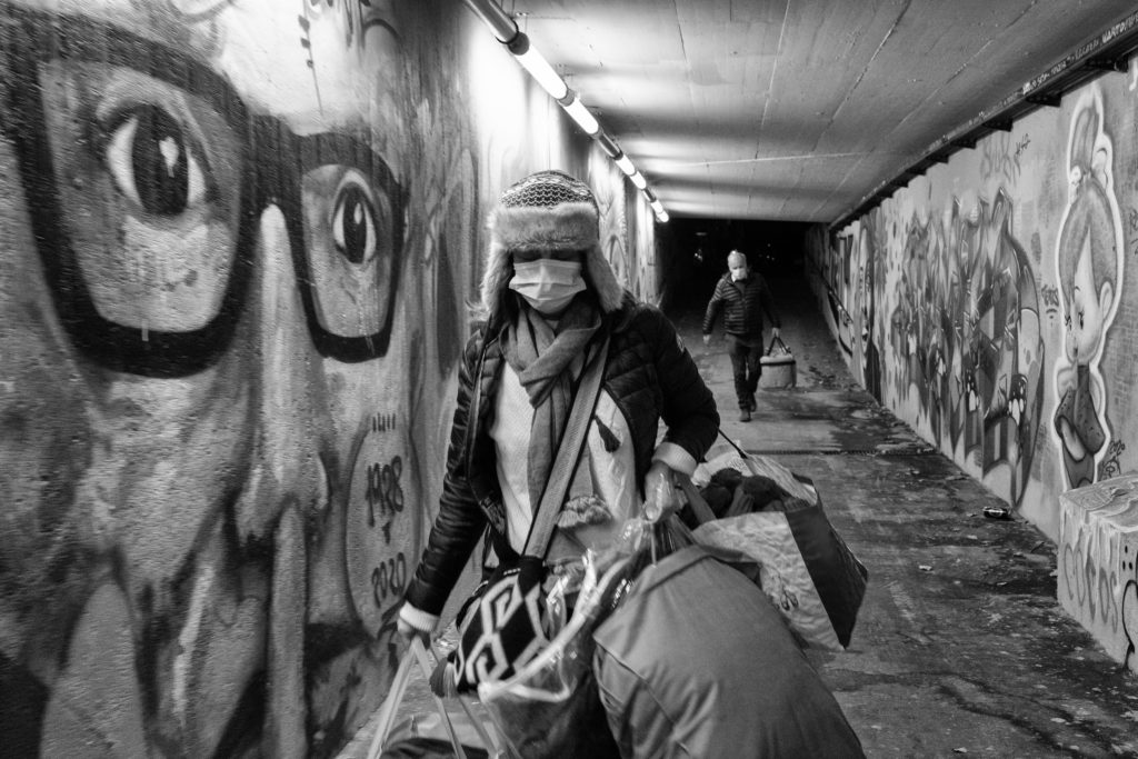 La Caravane Sans Frontières, Hébergement d'urgence, sans-abri, sleep-in, solidarité, photographie Aurélien Fontanet
