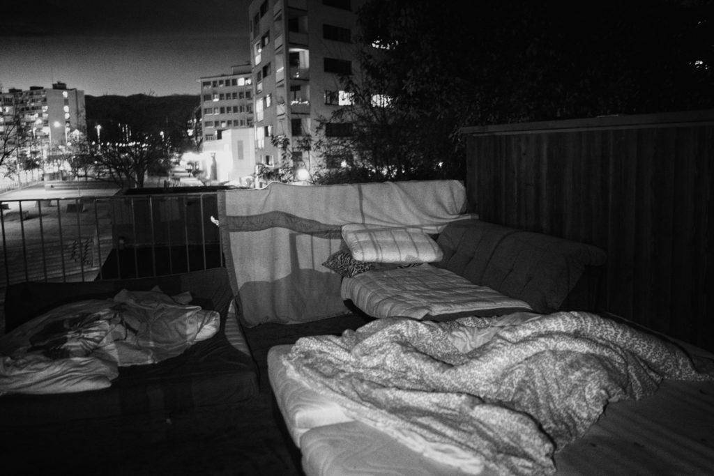 La Caravane Sans Frontières, Hébergement d'urgence, sans-abri